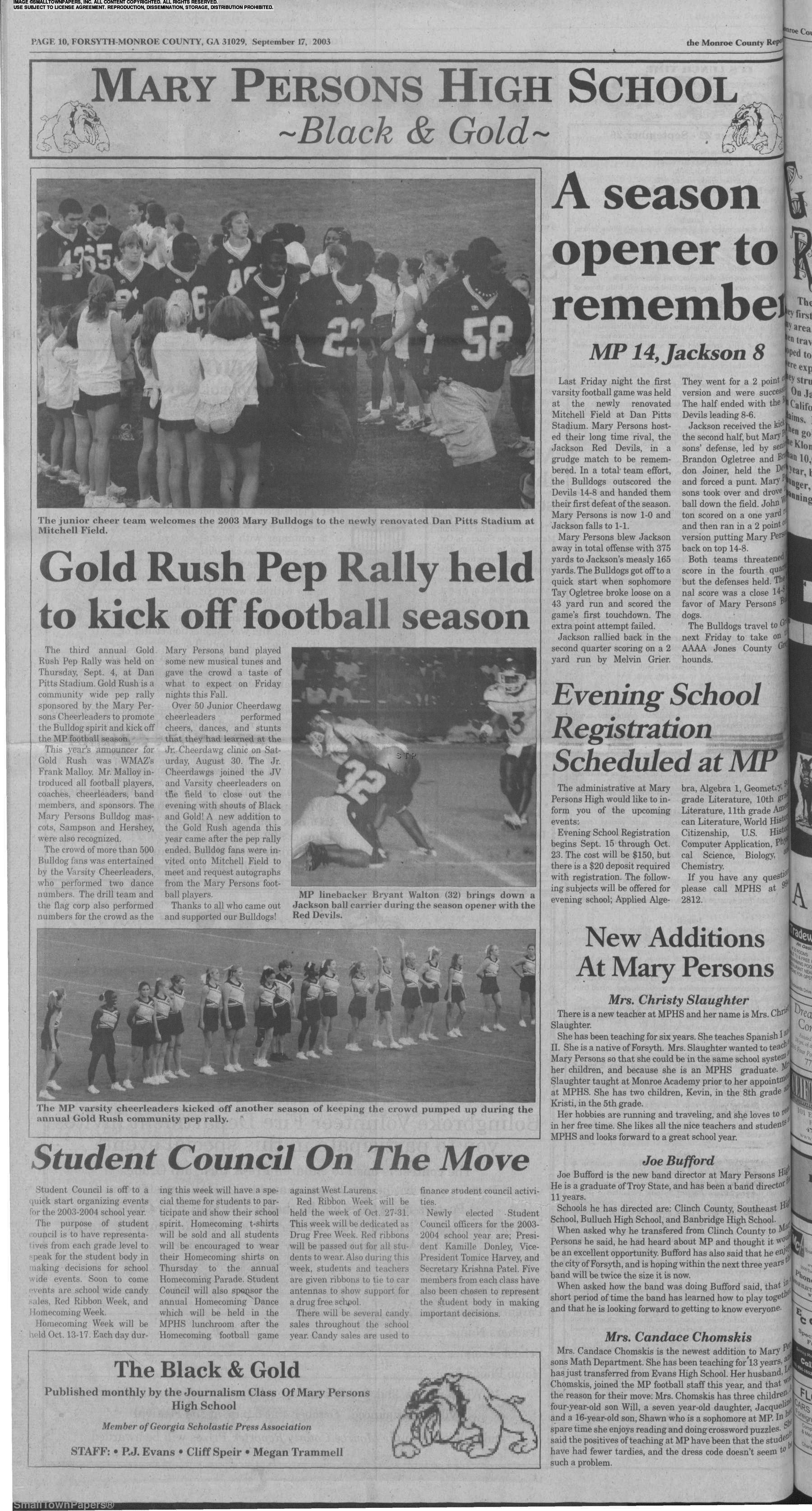 The Monroe County Reporter September 17, 2003: Page 10