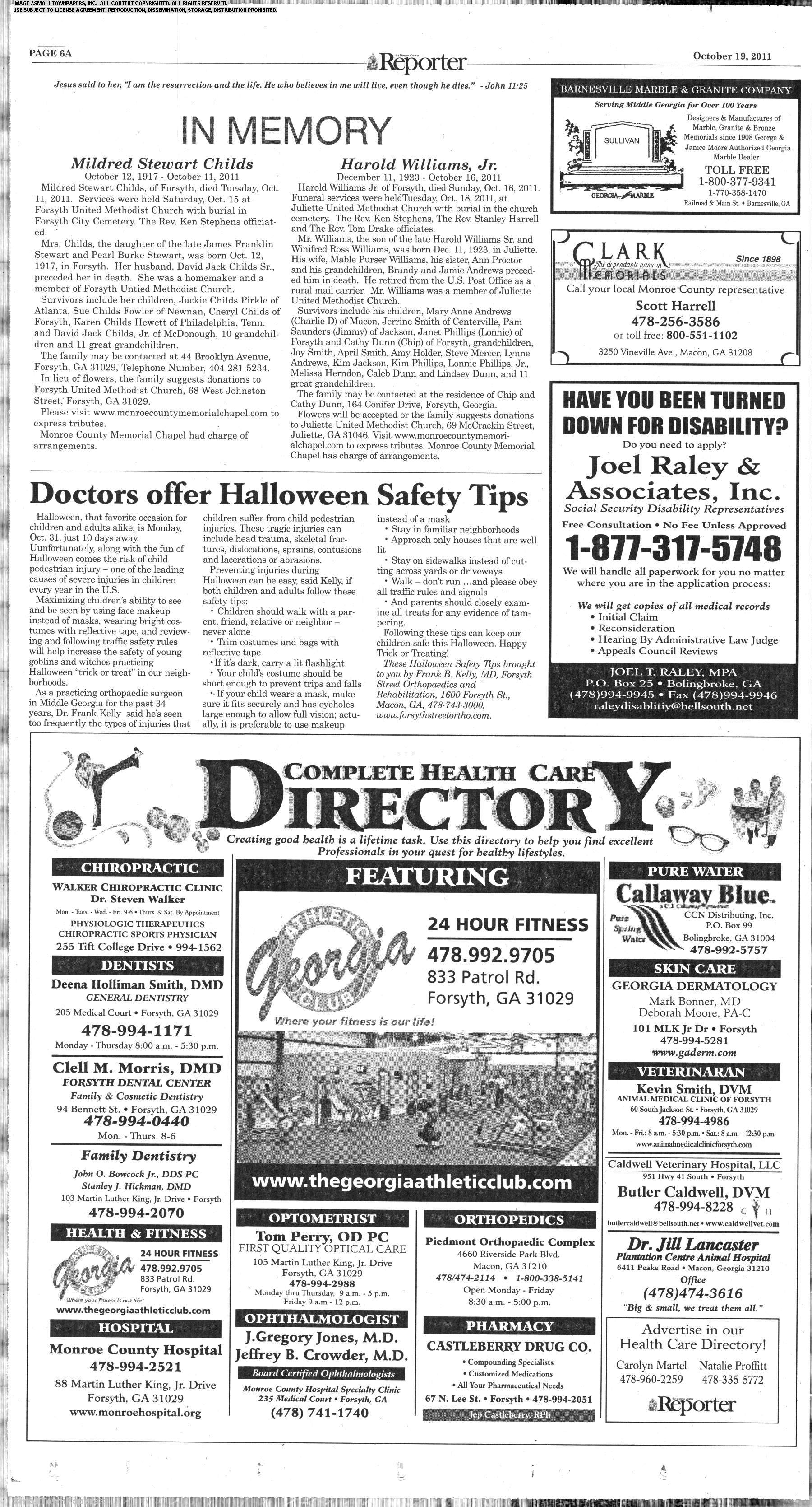 The Monroe County Reporter October 19, 2011: Page 6