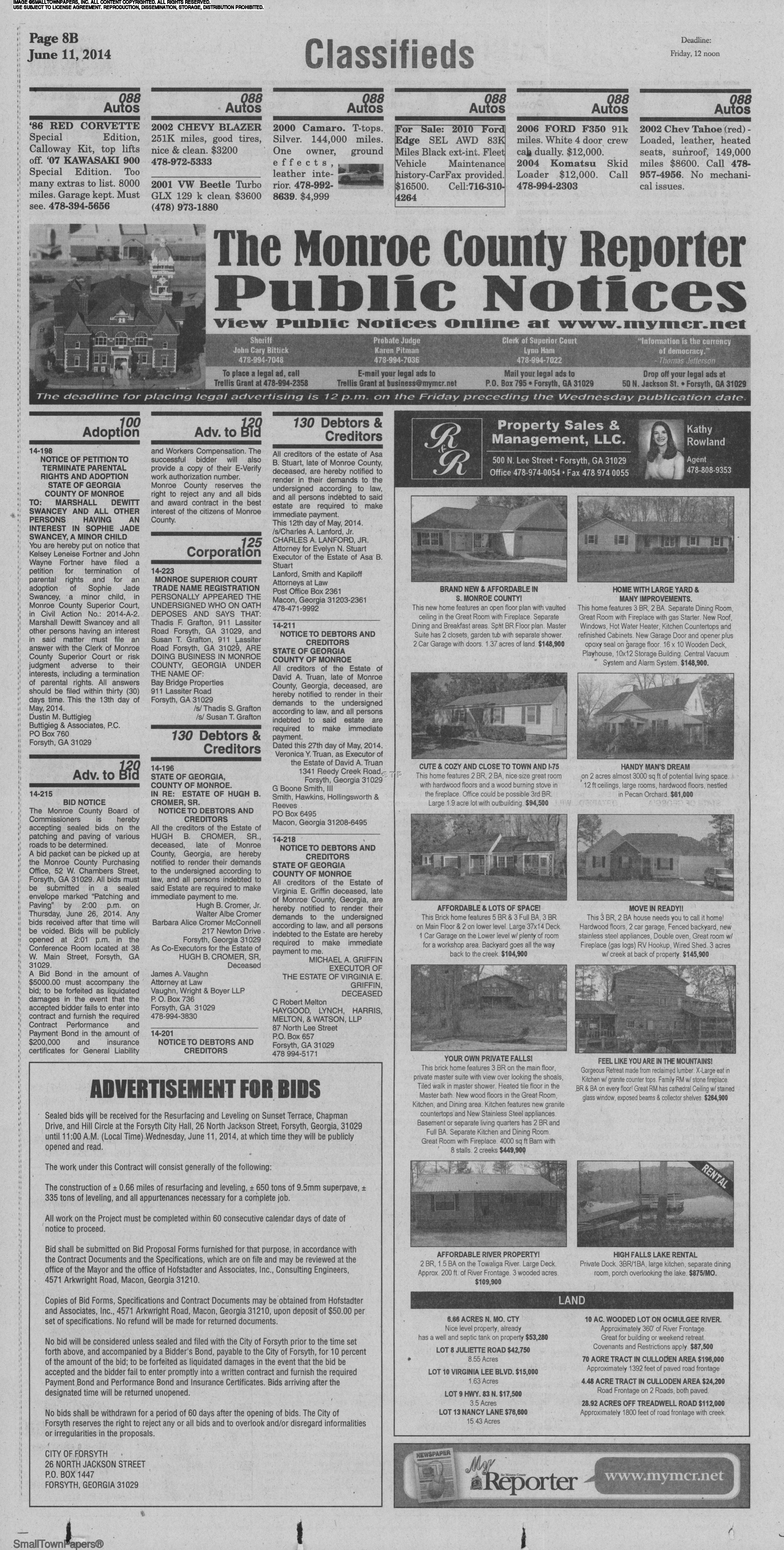 The Monroe County Reporter June 11, 2014: Page 20